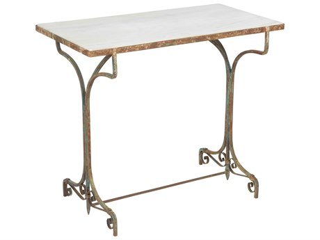 Aidan Gray Ashiya Marble 32''W x 16''D Rectangular End Table AIDF326