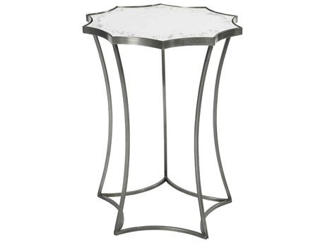 Aidan Gray Astre Steel Mirror 17'' Wide Round End Table