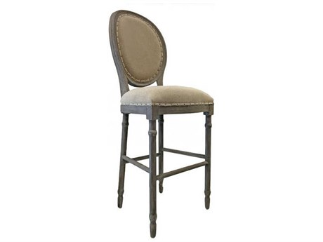 Aidan Gray Nantucketgray / Textureline Side Bar Height Stool (Sold in 3) AIDCH479NGTL