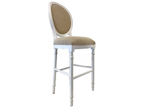 Aidan Gray Waxed White / Textureline Side Bar Height Stool (Sold in 3) AIDCH479WWTL