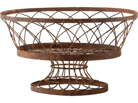 Aidan Gray Large Rust Oval Basket (Sold in 2) AID7830GR