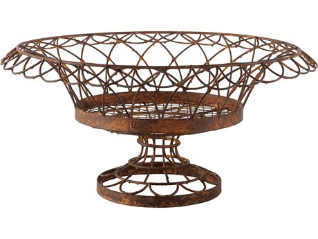Aidan Gray Large Rust Round Petal Basket (Sold in 2) AID7850GR