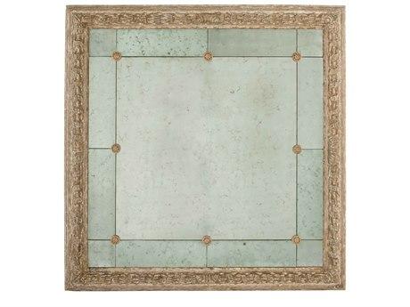 Aidan Gray Bilzen Washed Gold 48'' Wide Square Wall Mirror AIDDM140