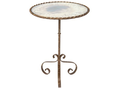 Aidan Gray Bolden Rustic Storm 17'' Wide Round Pedestal Table AIDF362