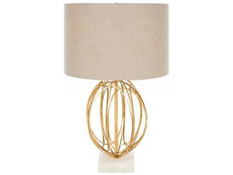 Aidan Gray Gold / Marble Dark Linen Buffet Lamp AIDL917