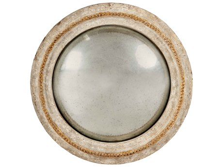 Aidan Gray Camilla Gray / White / Gold 21'' Wide Round Wall Mirror AIDDM108