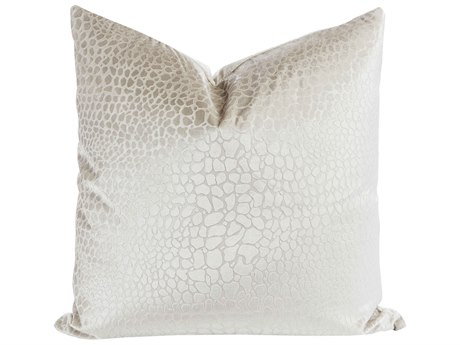 Aidan Gray Champagne No-09 White 22'' Square Pillow AIDP22CHMPNO9