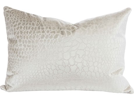 Aidan Gray Champagne No-10 White 20'' x 14'' Rectangular Pillow AIDPL14CHMPNO10