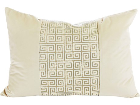 Aidan Gray Champagne No-11 Cream 20'' x 14'' Rectangular Pillow AIDPL14CHMPNO11
