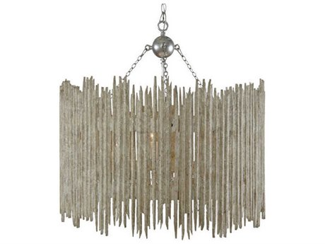 Aidan Gray Distressed Whites With 27'' Wide Medium Chandelier AIDL861CHANWHT