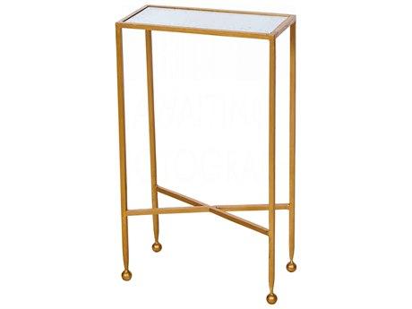 Aidan Gray Chino Gold 14''W x 7''D Rectangular End Table AIDF285GLD
