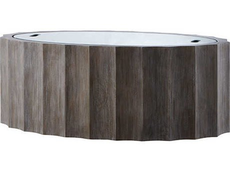 Aidan Gray Burnt Oak 48'' Wide Oval Coffee Table AIDF119OAK