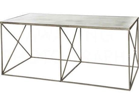 Aidan Gray Coffee Antique Mirror / Zinc 48''W x 24''D Rectangular Coffee Table AIDF289