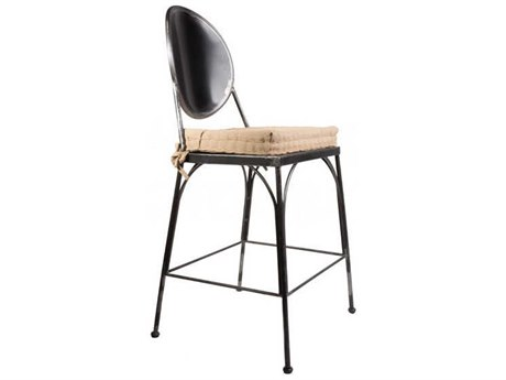 Mobital Tate White Leatherette Counter Stool