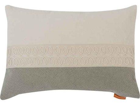 Aidan Gray Curls No-1 White / Taupe 20'' x 14'' Rectangular Pillow AIDPL14CRLNO1