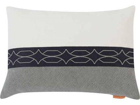 Aidan Gray Diamond No-25 White / Gray 20'' x 14'' Rectangular Pillow AIDPL14DIANO25