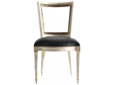 Aidan Gray Distressed White Side Dining Chair (Sold in 2) AIDDIVA105BLK