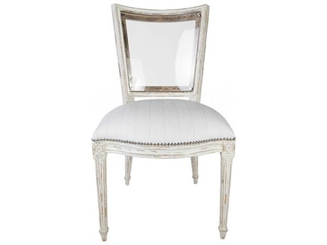 Aidan Gray Distressed White Side Dining Chair (Sold in 2) AIDDIVA105WHT