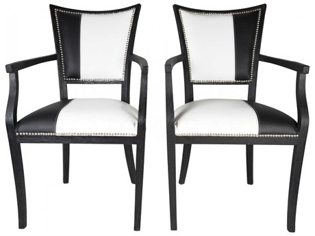 Aidan Gray Black Driftwood Arm Dining Chair (Set of 2)