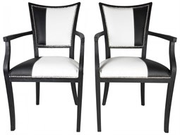 Black Driftwood Arm Dining Chair (Set of 2)