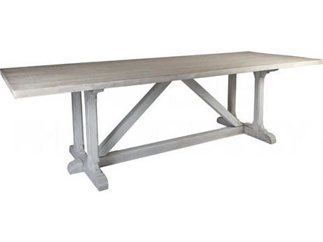 Aidan Gray Prague White 98'' Wide Rectangular Dining Table AIDF101