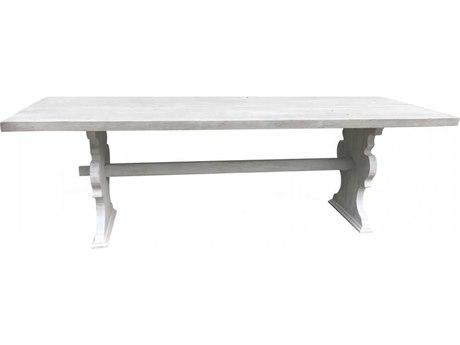 Aidan Gray Distressed Prague White 94'' Wide Rectangular Dining Table AIDF103