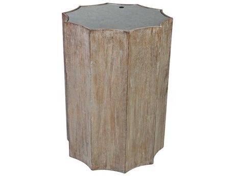 Aidan Gray Burnt Oak 17'' Wide Drum Table AIDF118OAK