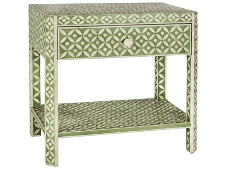 Aidan Gray Ecliptic Pale Jade 28''W x 18''D Rectangular End Table