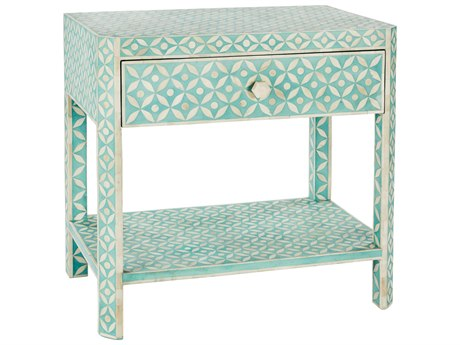 Aidan Gray Ecliptic Bay Blue 28''W x 18''D Rectangular End Table