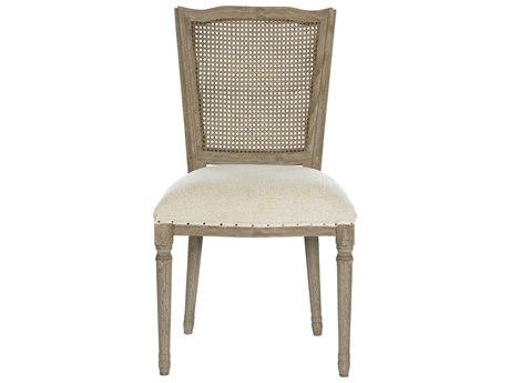 Aidan Gray Original Ethan Textured Linen / Burnt Oak Dining Side Chair AIDCH550ORG