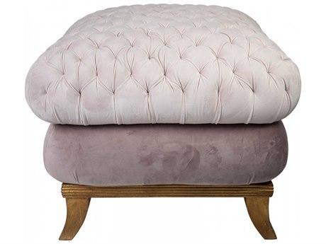 Aidan Gray Antique Distressed Gold / Ballet Slipper Pink Diva Ottoman AIDDIVA140BSP