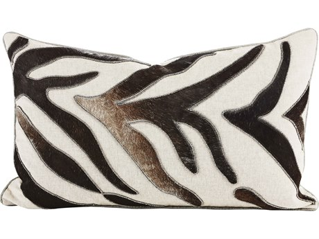 Aidan Gray Fawn No-4 Black / White 20'' x 12'' Rectangular Pillow AIDPL12FWNNO4