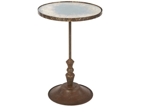 Aidan Gray Fien Rustic Storm 27'' Wide Round Pedestal Table AIDF372