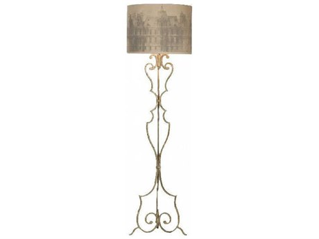 Aidan Gray Aged Grey Floor Lamp