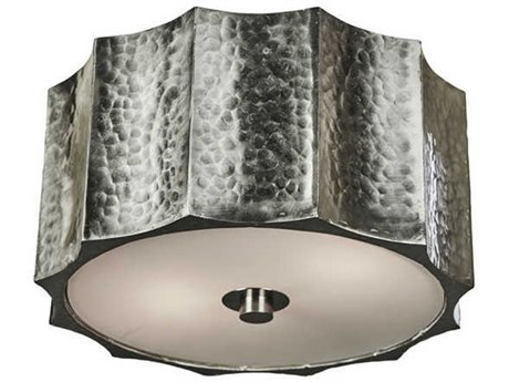 Aidan Gray Nickel 10'' Wide Flush Mount Light