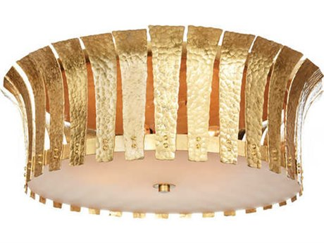 Aidan Gray Gold 19'' Wide Flush Mount Light