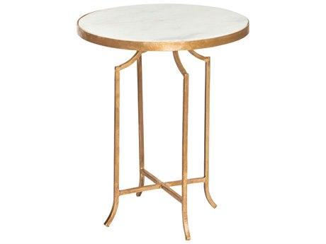 Aidan Gray Fuji Marble 17'' Wide Round End Table AIDF277