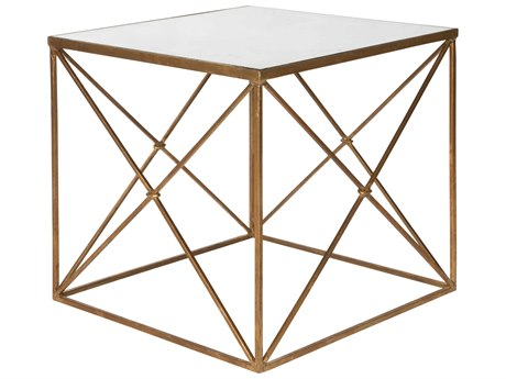 Aidan Gray Furano Gold 22'' Wide Square End Table AIDF290