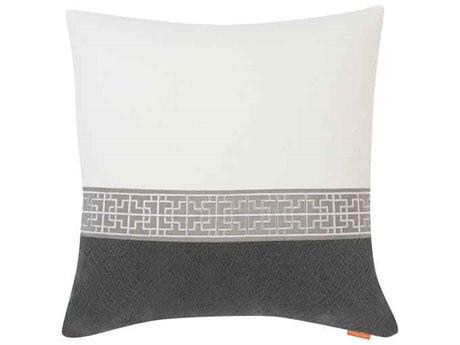 Aidan Gray Gatsby No-10 White / Navy 22'' Square Pillow AIDP22GTBNO10