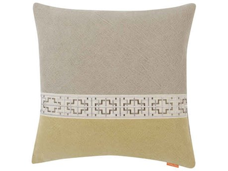 Aidan Gray Gatsby No-11 Gray / Green 22'' Square Pillow AIDP22GTBNO11
