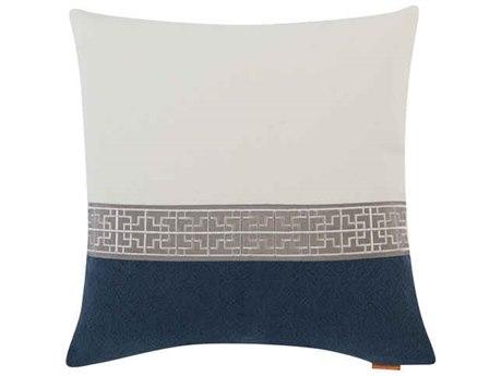 Aidan Gray Gatsby No-9 White / Black 22'' Square Pillow AIDP22GTBNO9