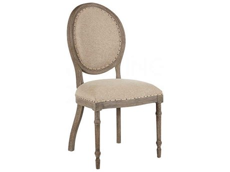 Aidan Gray Grace Textured Linen / Nantucket Gray Dining Side Chair (Sold in 2) AIDCH459NGTL