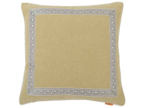 Aidan Gray Greek No-18 Cream 22'' Square Pillow AIDP22GRKNO18