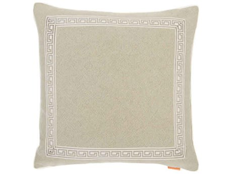 Aidan Gray Greek No-2 Taupe 22'' Square Pillow AIDP22GRKNO2