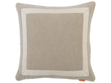 Aidan Gray Greek No-3 Taupe 22'' Square Pillow AIDP22GRKNO3