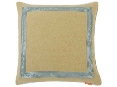 Aidan Gray Greek No-31 Taupe 22'' Square Pillow AIDP22GRKNO31