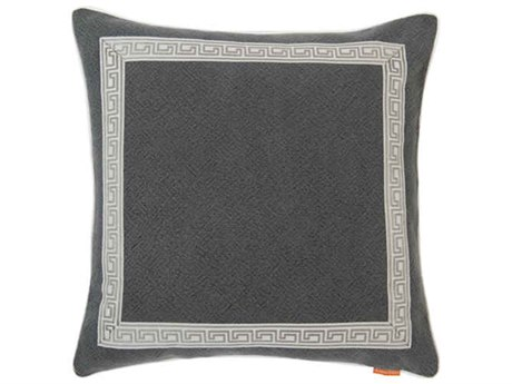Aidan Gray Greek No-28  Black 22'' Square Pillow