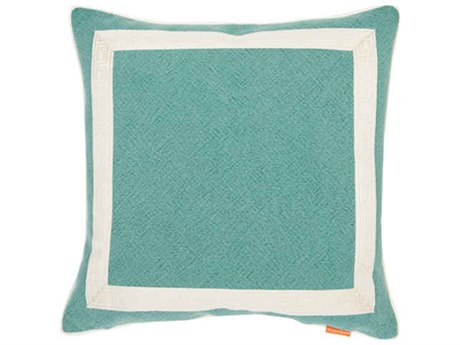 Aidan Gray Greek No-10 Turquoise 22'' Square Pillow AIDP22GRKNO10