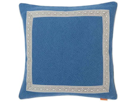 Aidan Gray Greek No-25 Blue 22'' Square Pillow AIDP22GRKNO25