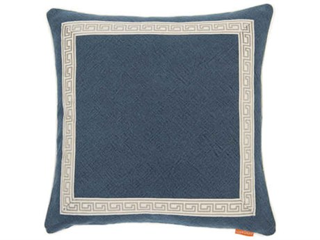 Aidan Gray Greek No-26 Blue 22'' Square Pillow AIDP22GRKNO26
